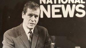 After a career in newspapers, Stanley Burke, seen around 1967, moved to television reporting and later landed the job as news anchor on CBC's The National News. He had a natural broadcast voice and distinct delivery. (The Globe and Mail)